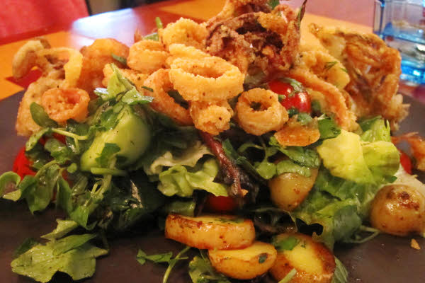 Warm Crab & Calamari Salad thumbnail (click to enlarge)
