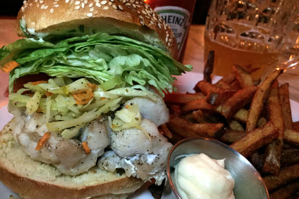Monk Fish Burger thumbnail (click to enlarge)