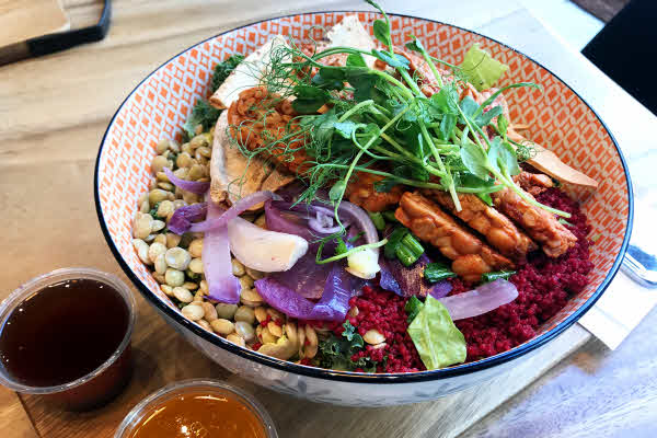 Beetroot Couscous & Tempeh Salad thumbnail (click to enlarge)