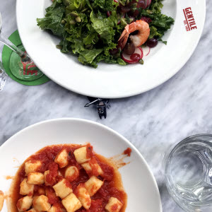 Gnocchi & Salad thumbnail (click to enlarge)