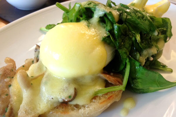 Eggs Benedict, Mushrooms, Kale thumbnail (click to enlarge)