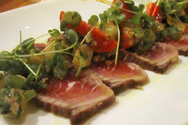 Kalamata Brined Tuna Tataki thumbnail (click to enlarge)