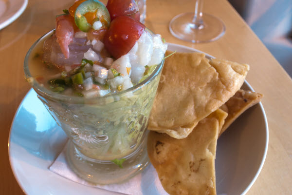 Spot Prawn Ceviche with Traditional Garnishes thumbnail (click to enlarge)
