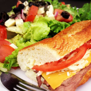 Sandwich & Salad thumbnail (click to enlarge)