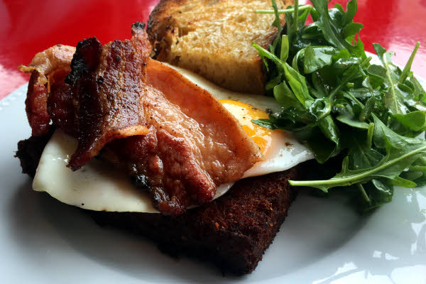 Scrapple, Fried Eggs & Bacon thumbnail (click to enlarge)