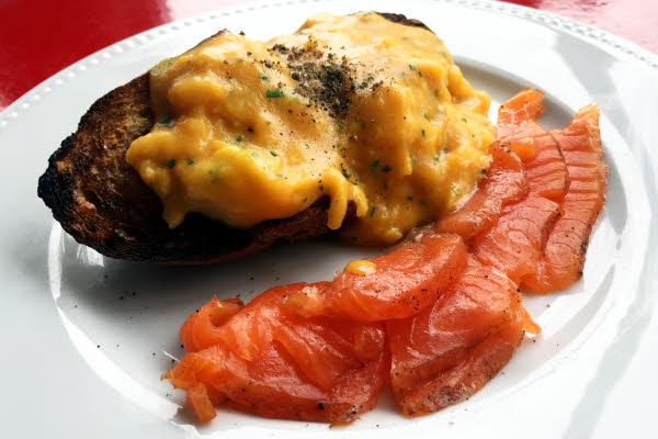 Smoked Salmon & Scrambled Eggs thumbnail (click to enlarge)