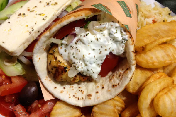 Chicken Pita Plate thumbnail (click to enlarge)
