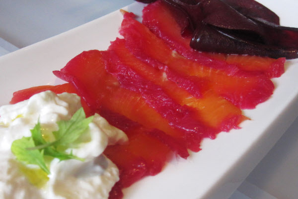 Beet-Cured Arctic Char thumbnail (click to enlarge)