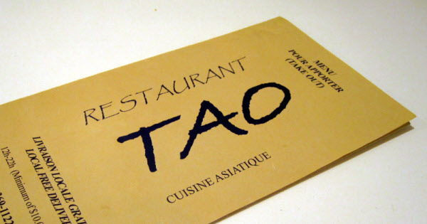 Tao Restaurant: Delivery thumbnail